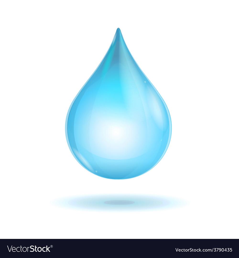 Water transparent drop