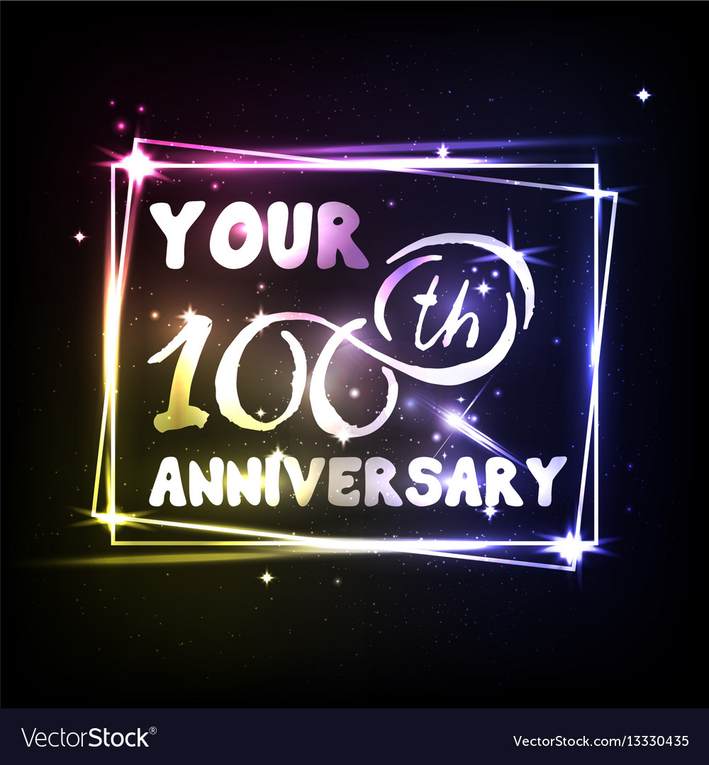 Your 100th anniversary banner design