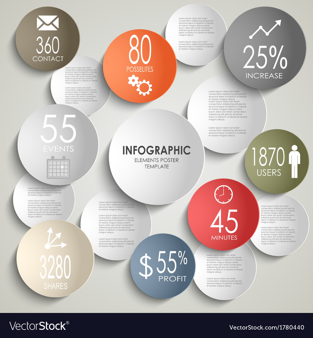 Abstract colored round info graphic business vector image