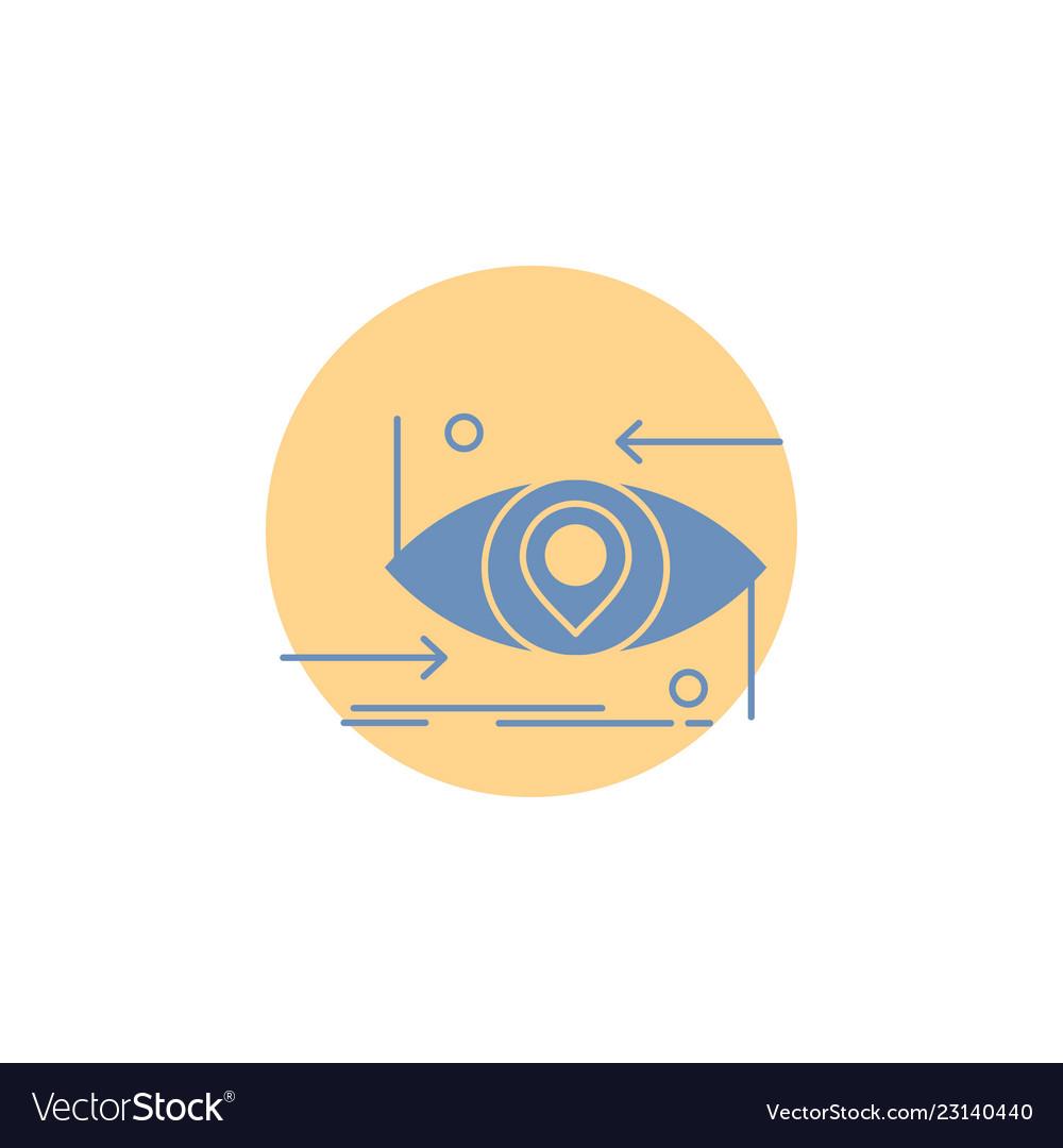 Advanced future gen science technology eye glyph