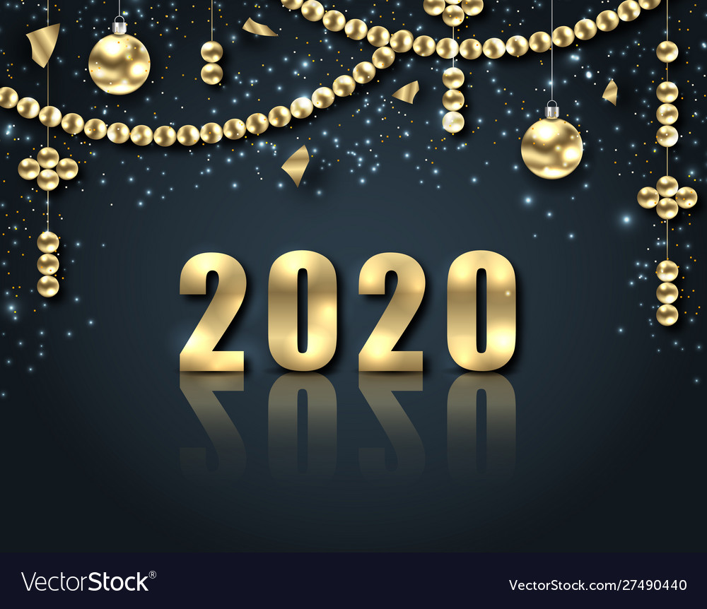 Golden celebration background for happy new year