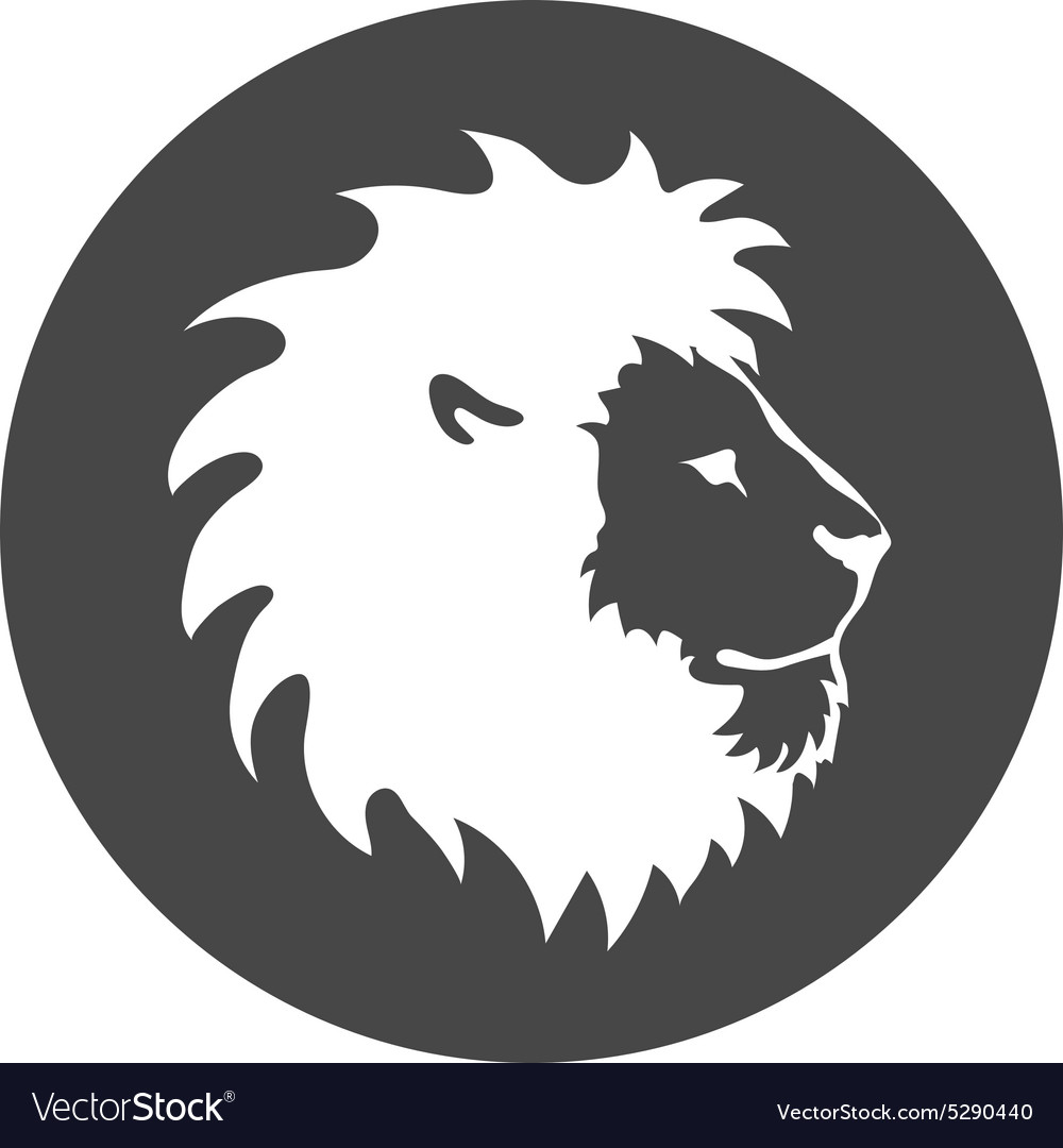 Lion face logo emblem template for business or t