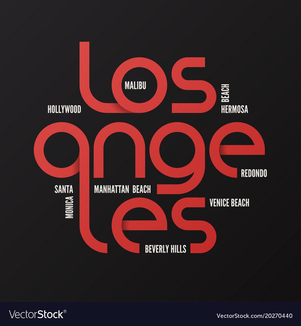 Los angeles design typography print logo
