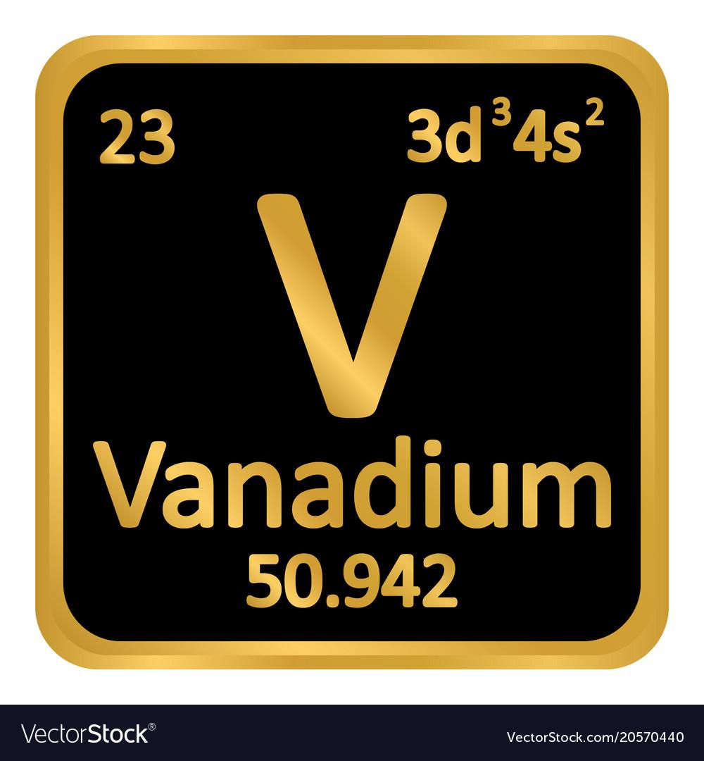 Periodic table element vanadium icon royalty free vector periodic table element vanadium icon vector image urtaz Choice Image