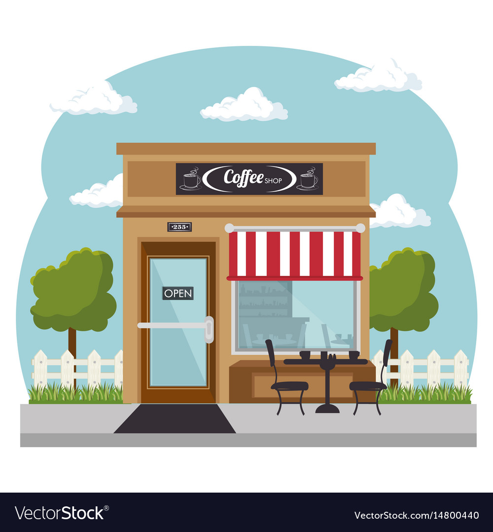 Shopping stores design vector image