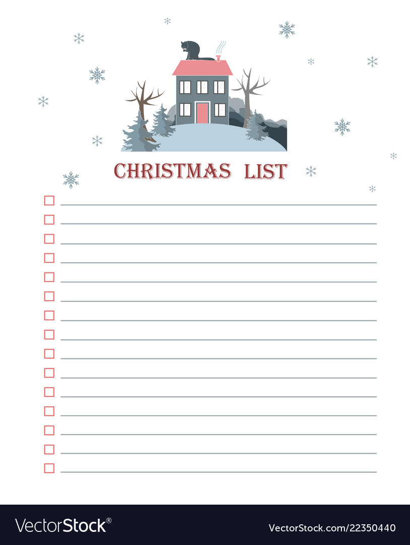 Christmas List Template.Template For Christmas To Do List With Flat