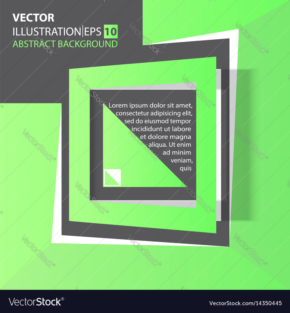 Abstract background green square vector image