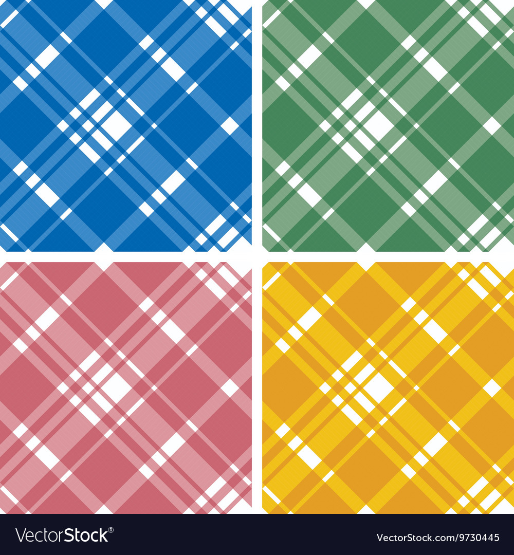 Abstract Tartan Checkered Seamless Pattern Set