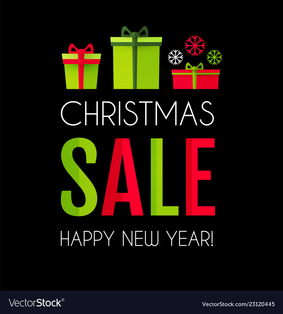 Christmas sale season design template paper art