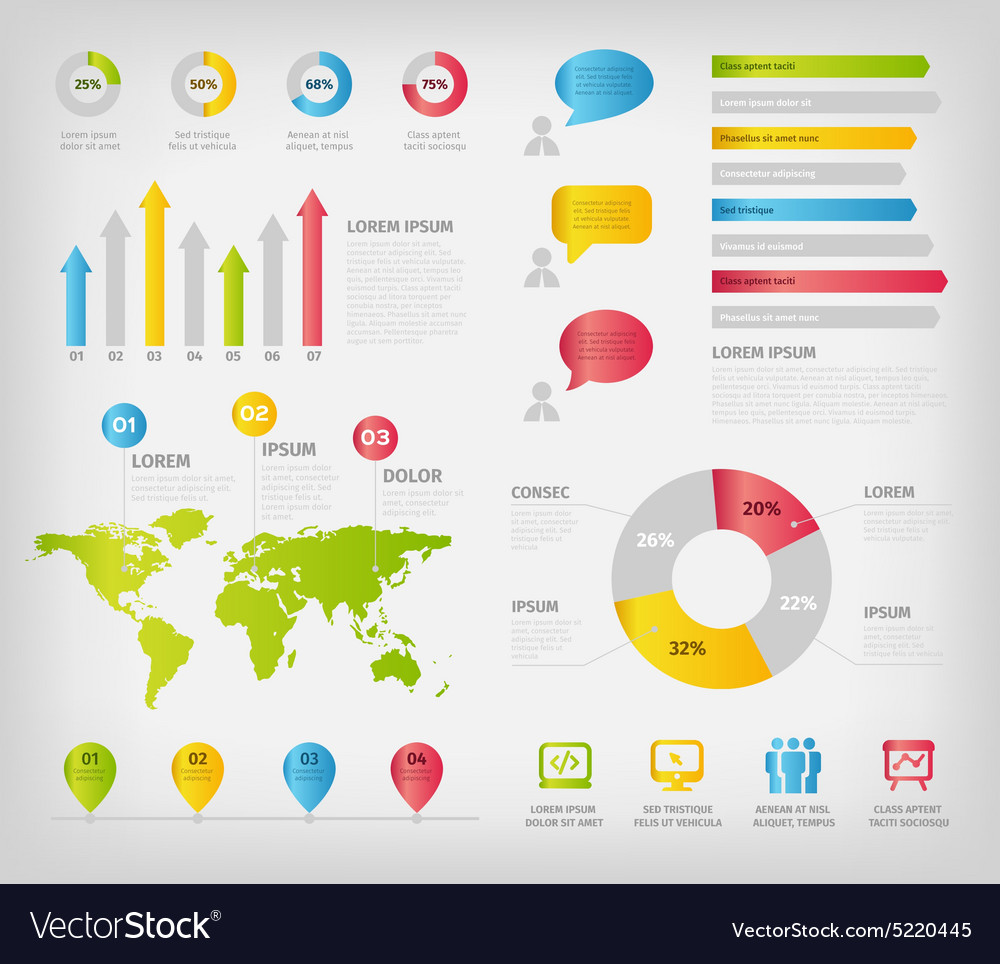 Colorful infographics elements