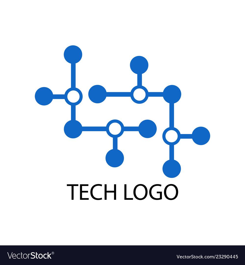 Dot connecting tech logo