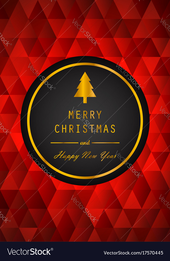 Golden merry christmas and happy new year with