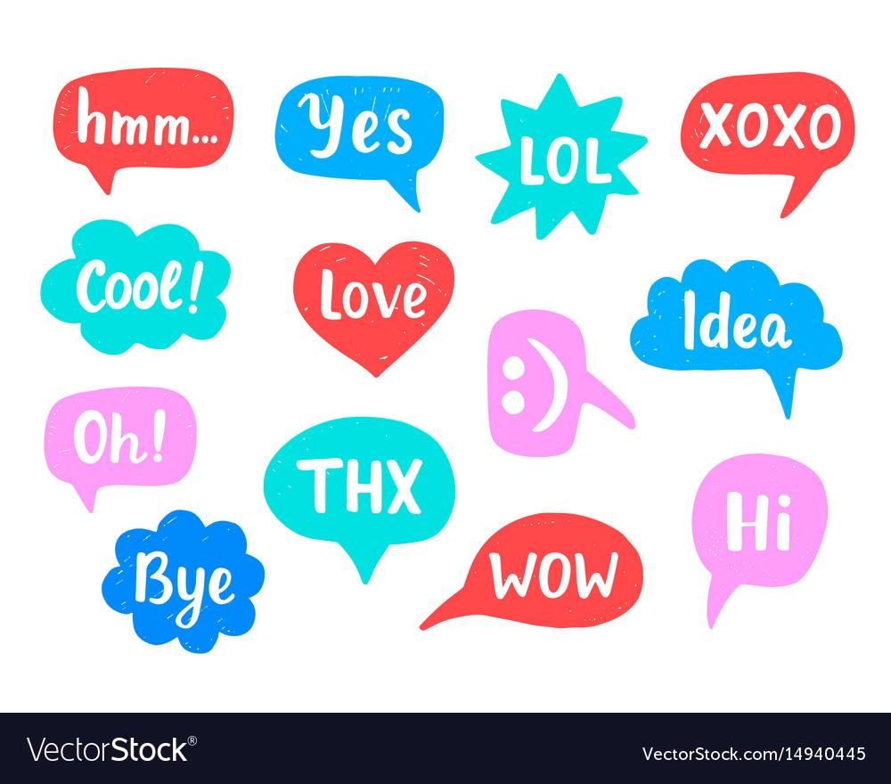Hand drawn internet acronyms