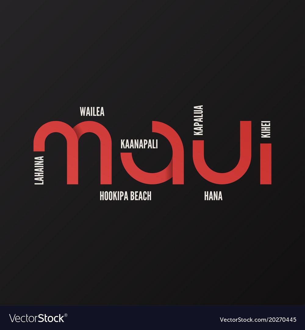 Hawaii maui t-shirt and apparel design