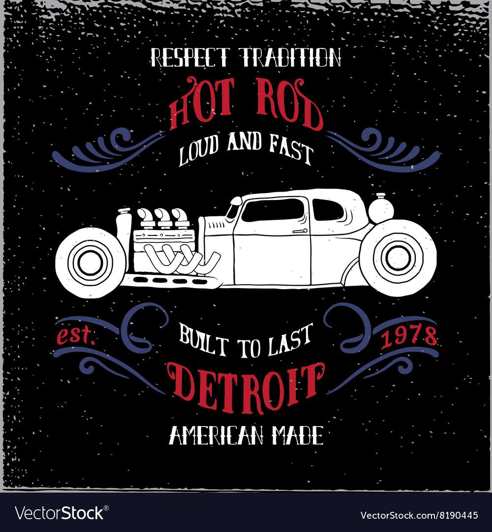 Hot rod vehicle vector image