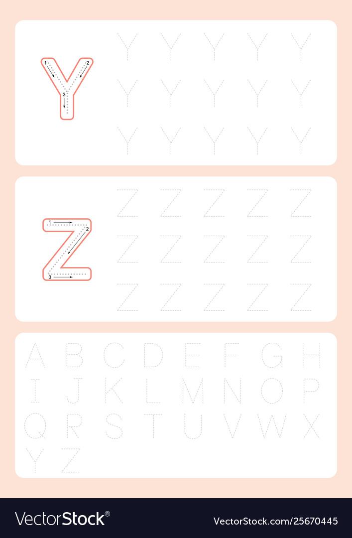 Kindergarten tracing letters worksheets alphabet
