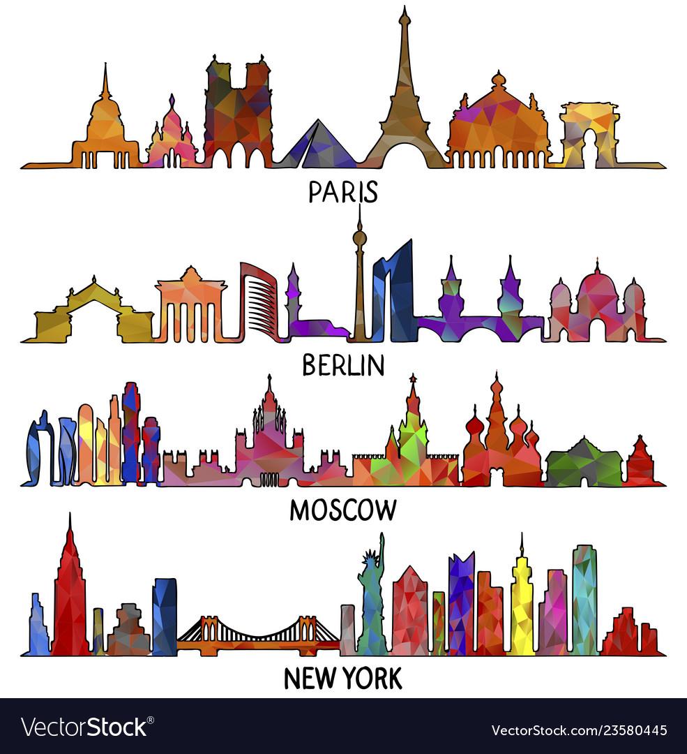 Paris berlin moscow and new york triangular