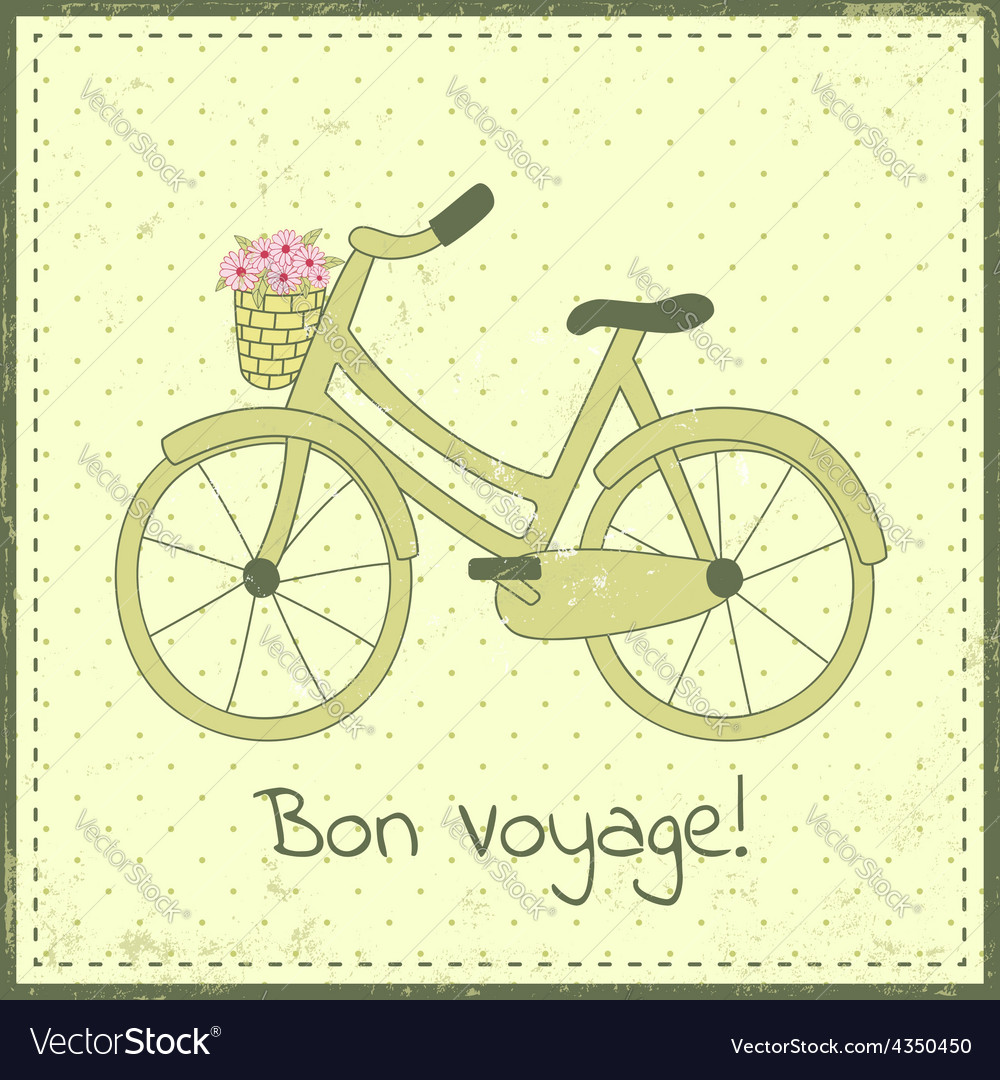 Bike postcard vector image