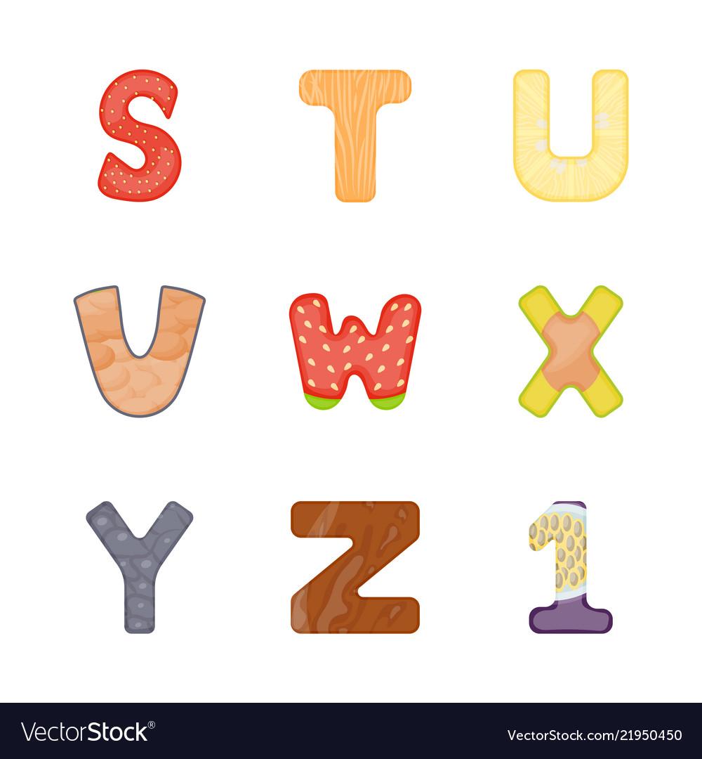 English flat icons