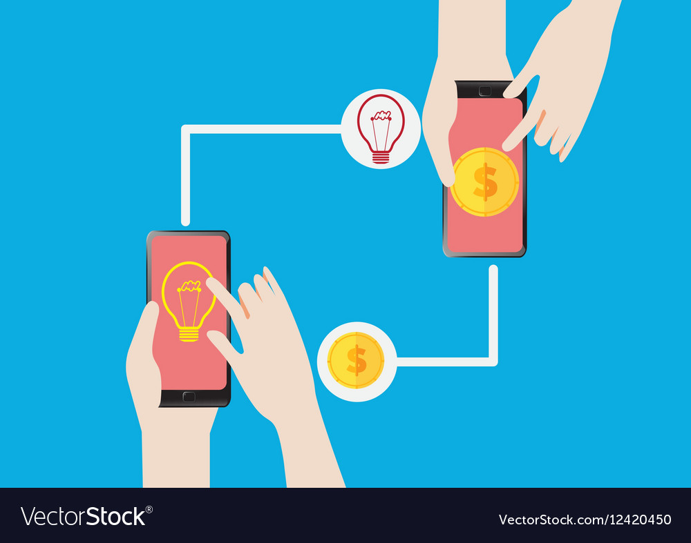 Exchange Get Money for the Idea vector image