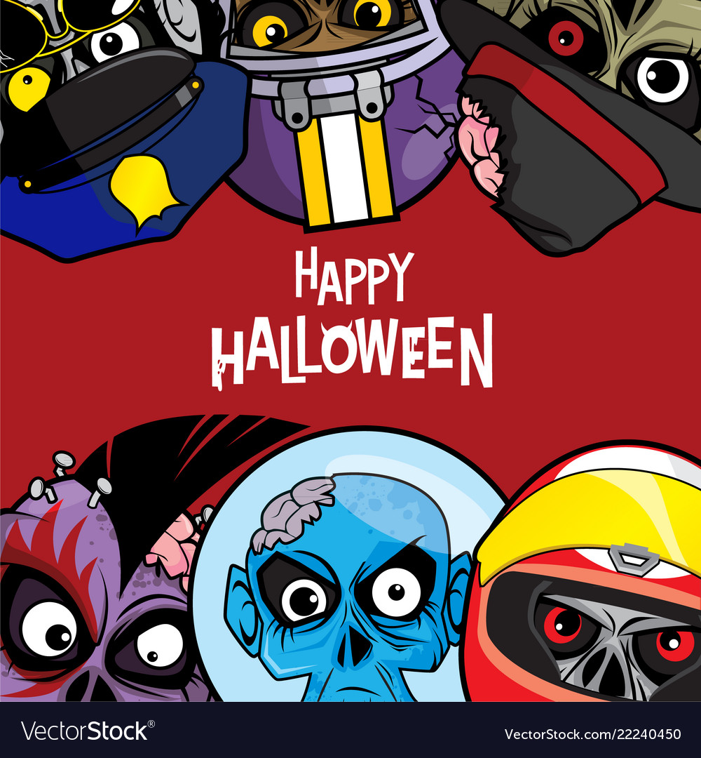 Halloween Background With Zombie Theme Vector Image
