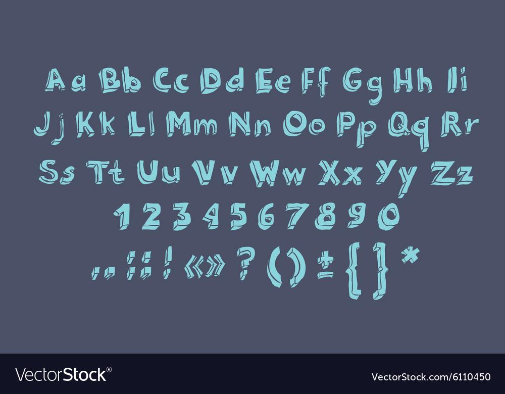 Hand drawn alphabet letters doodle scribble