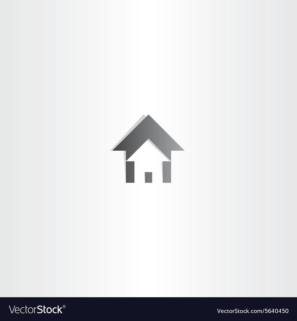 Home house black sign design
