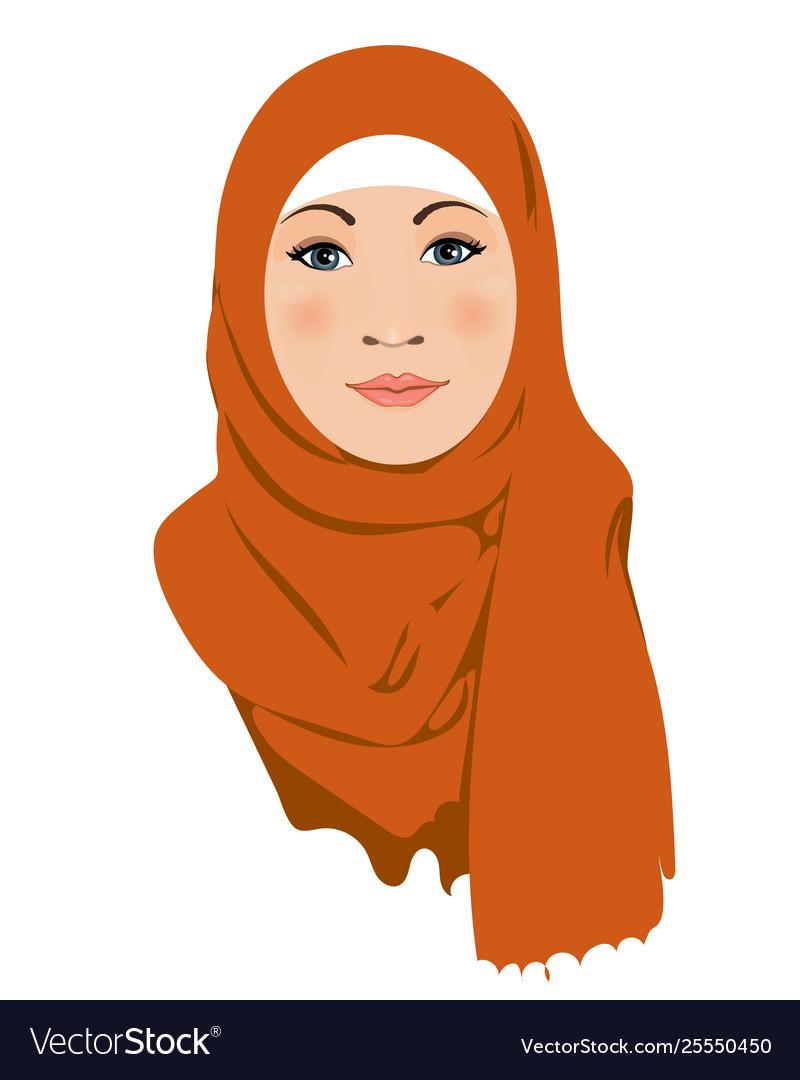 Muslim woman muslim arab women character in hijab Vector Image