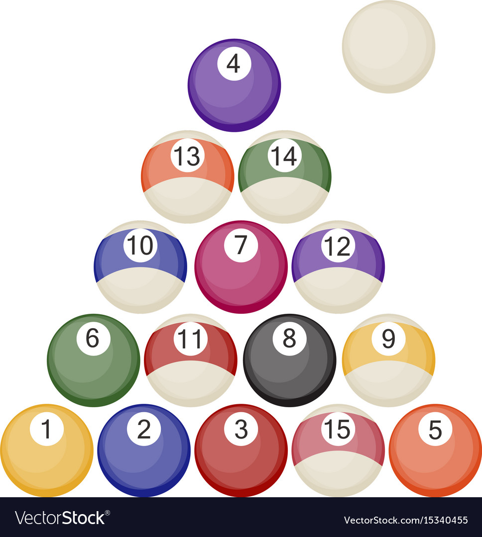 A collection of all the pool or snooker balls with