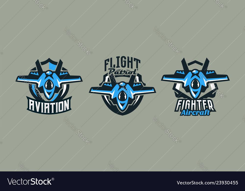 A set colorful logos badges emblems a