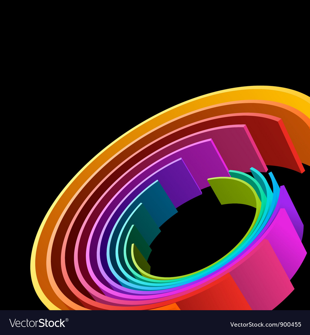 Abstract 3d Circle Rings Background