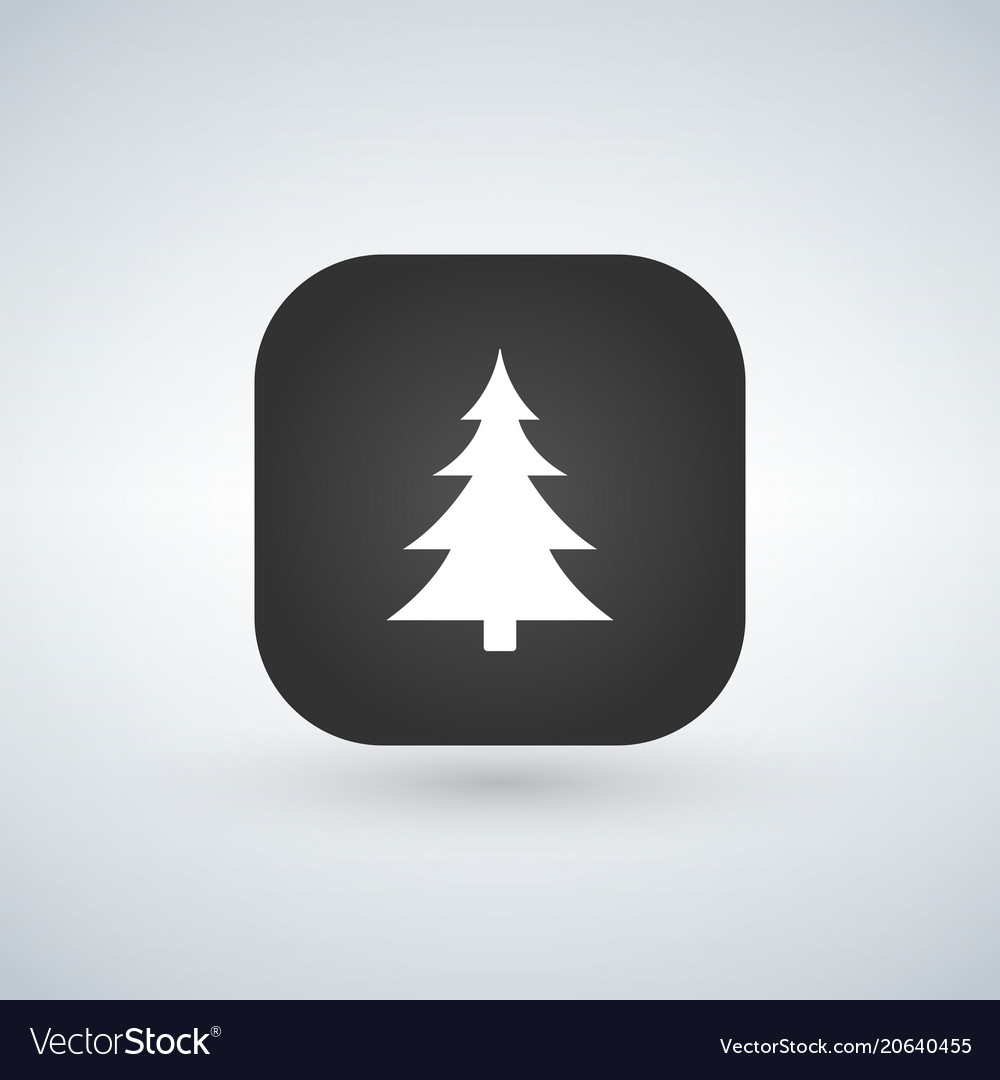Christmas tree or forest sign icon over the