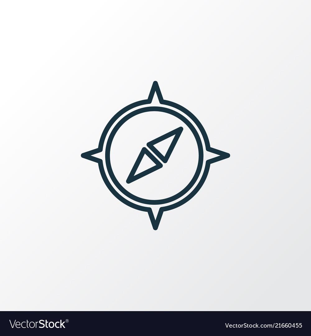 Compass icon line symbol premium quality isolated