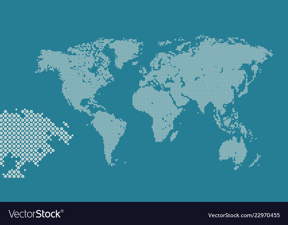 Dotted world map abstract travel business