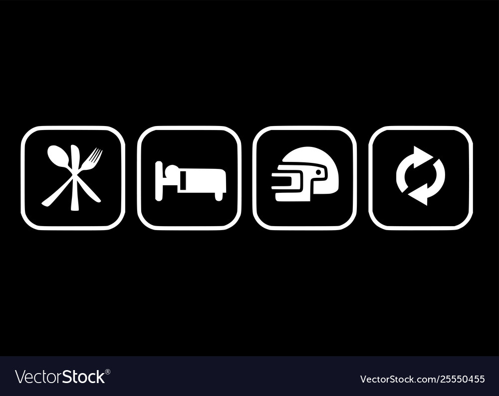 Eat Sleep Game Pubg Repeat Flat Design Icon Vector Image