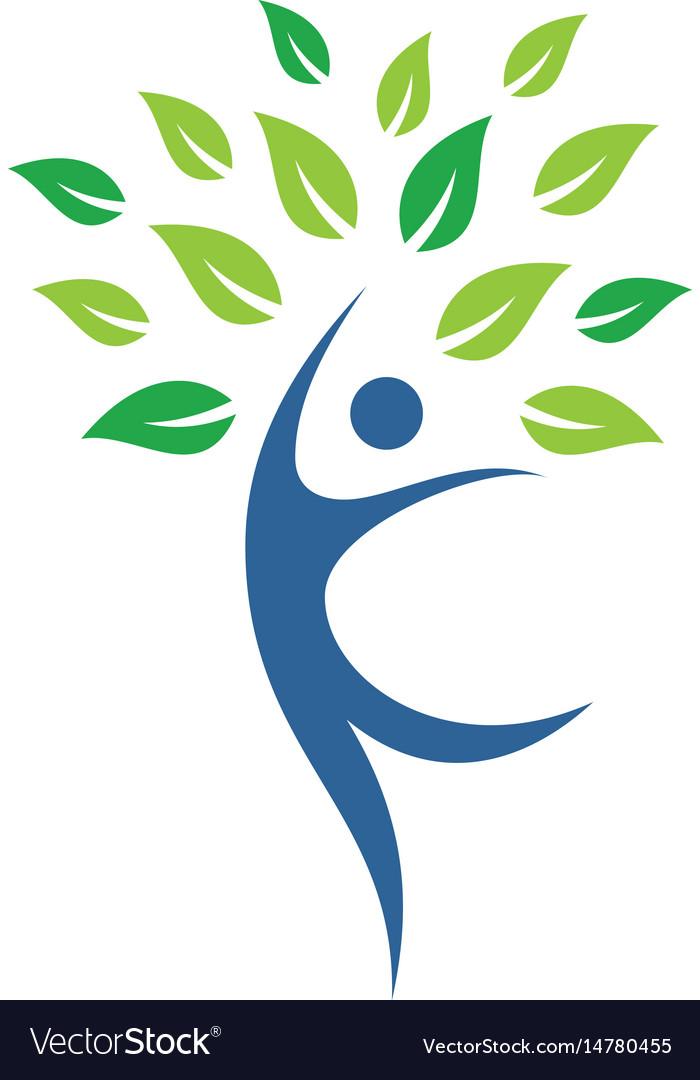 Eco tree people logo image