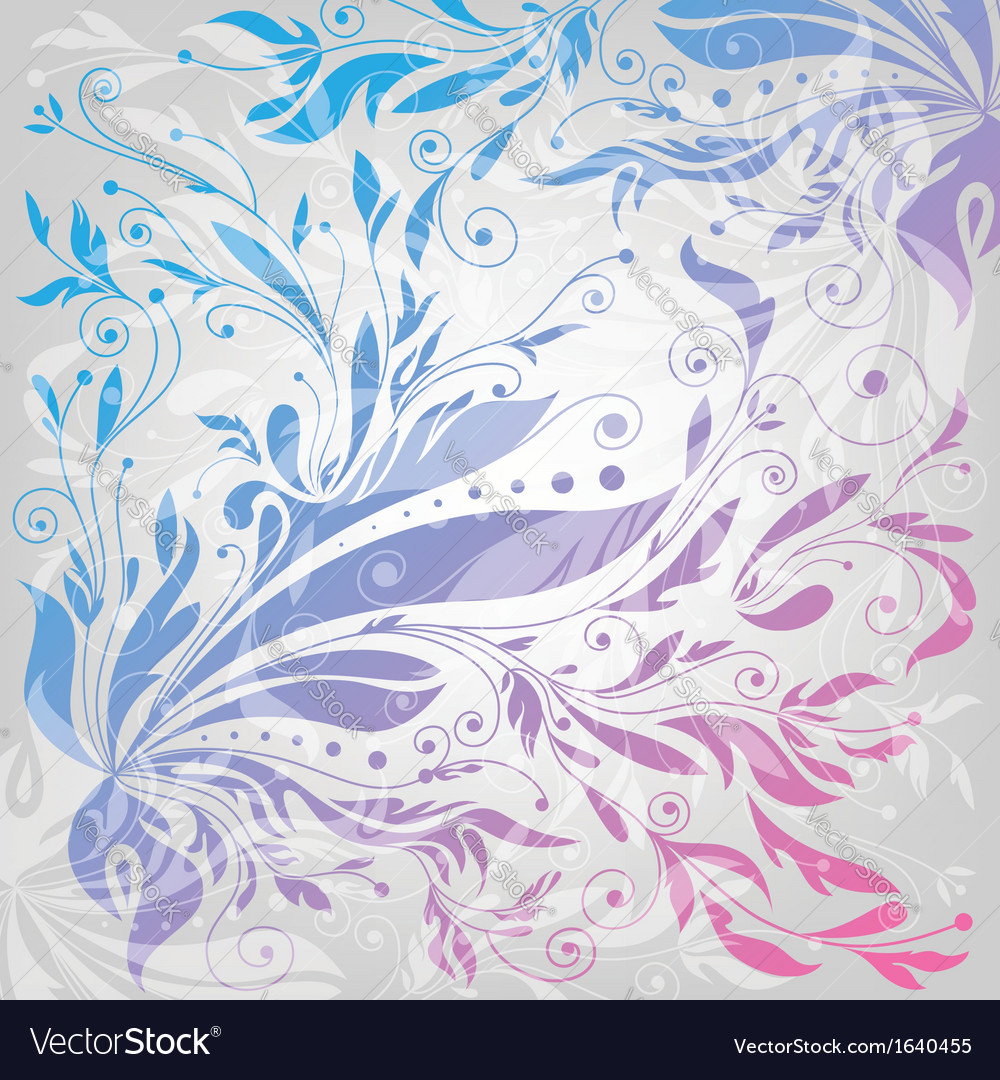 Flourishes background floral pattern