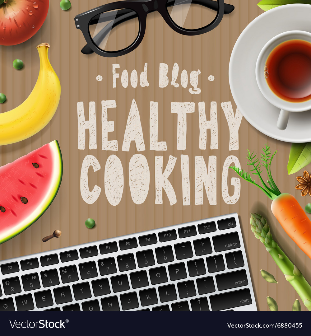 Food blog healthy cooking recipes online vector image forumfinder Choice Image