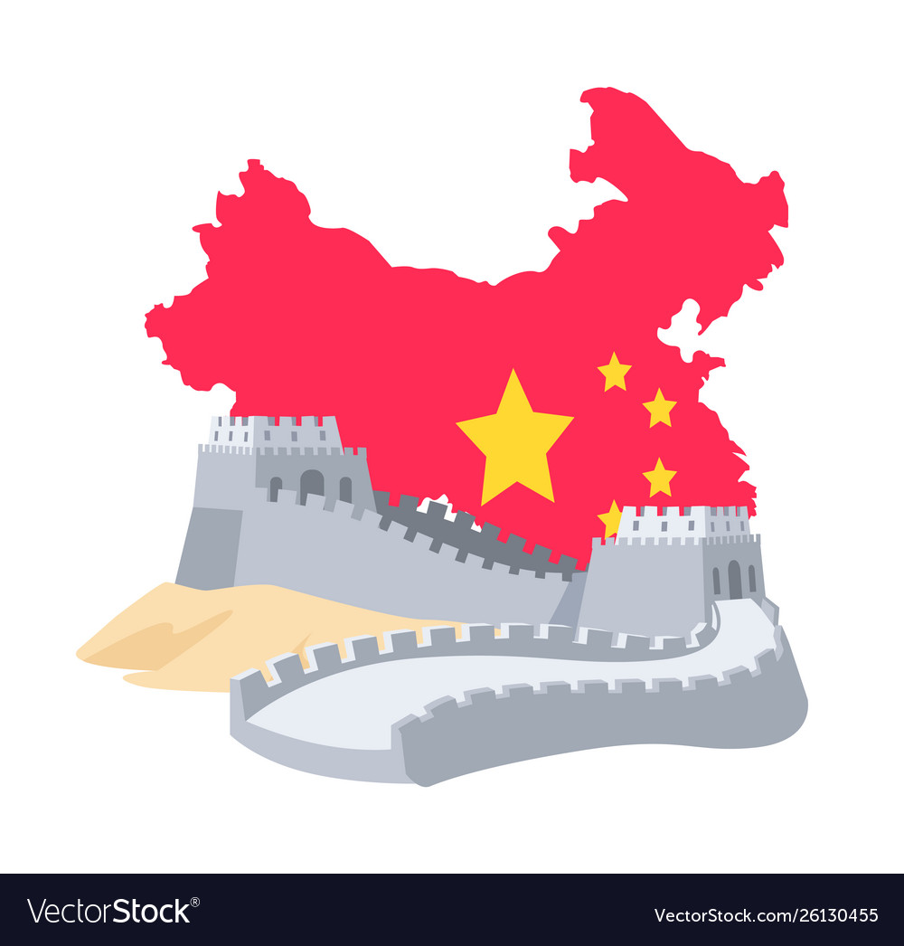 Historical ridge from bricks china flag
