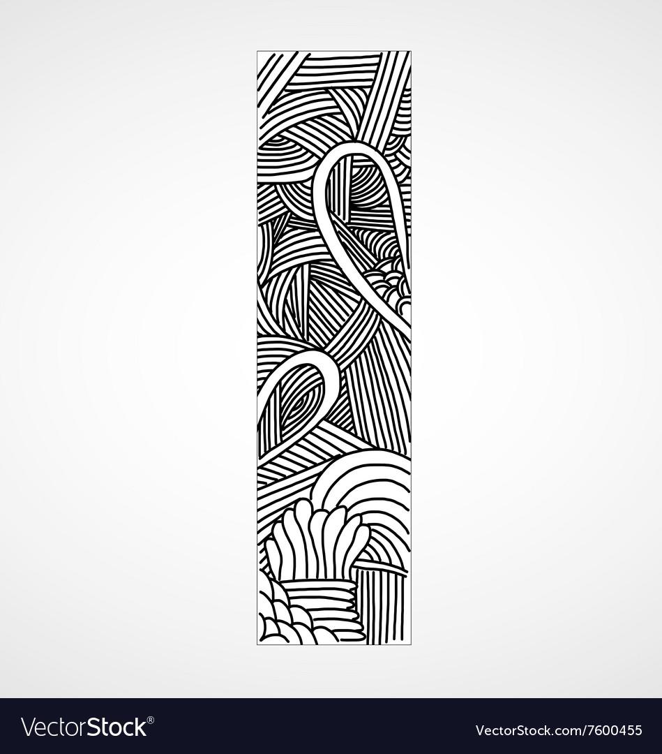 Letter I from doodle alphabet
