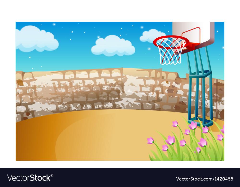 Street Basketball Background