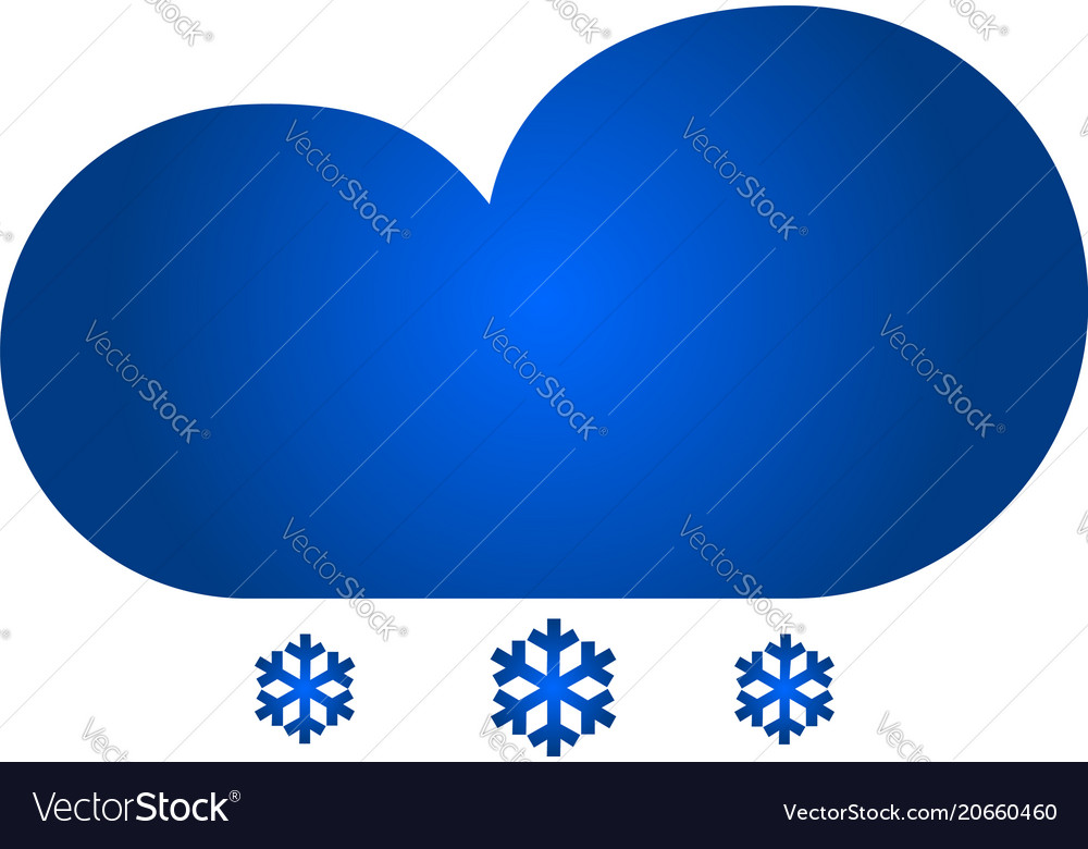 Cloud with snow icon