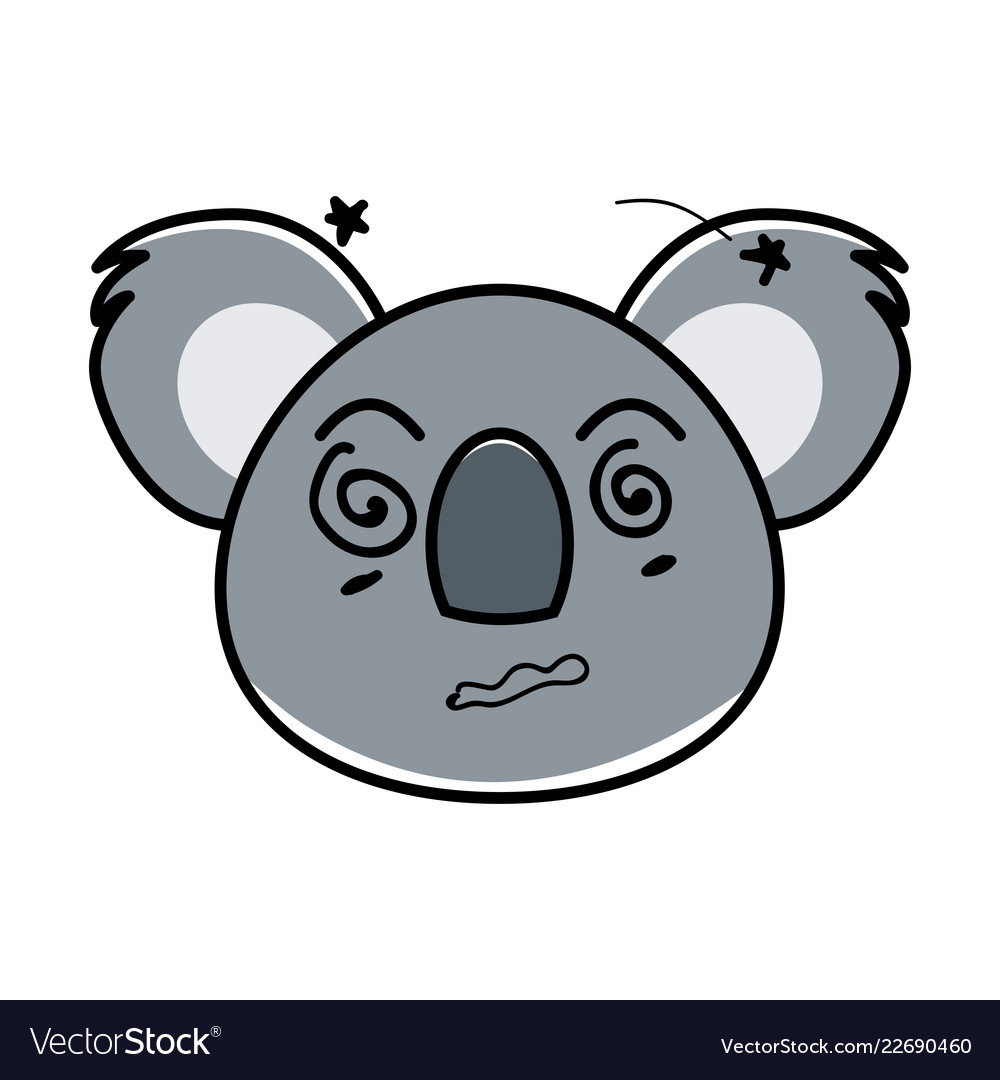 Flat type of animal face expression
