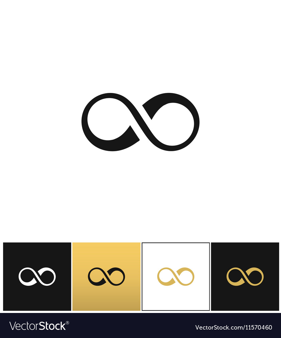 Infinity symbol or cycle eternity icon