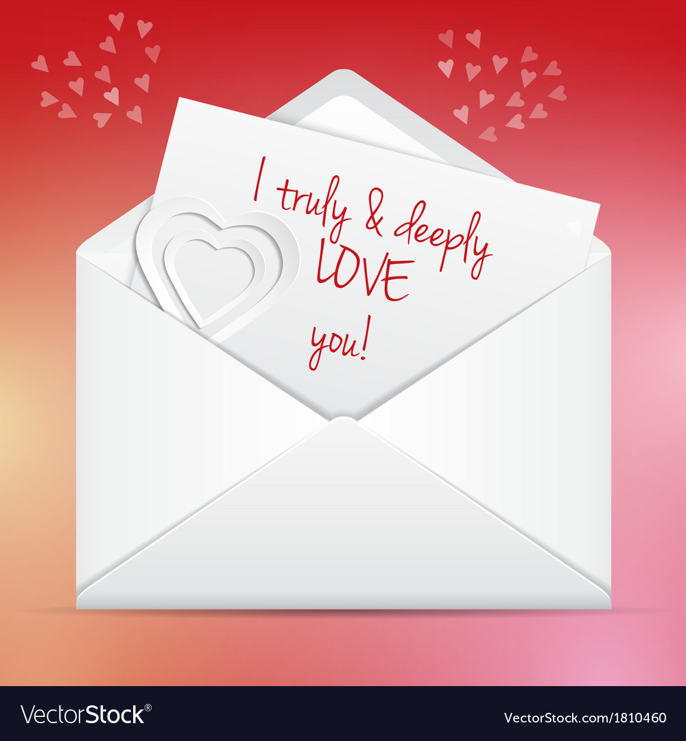 love letter in envelope royalty free vector image