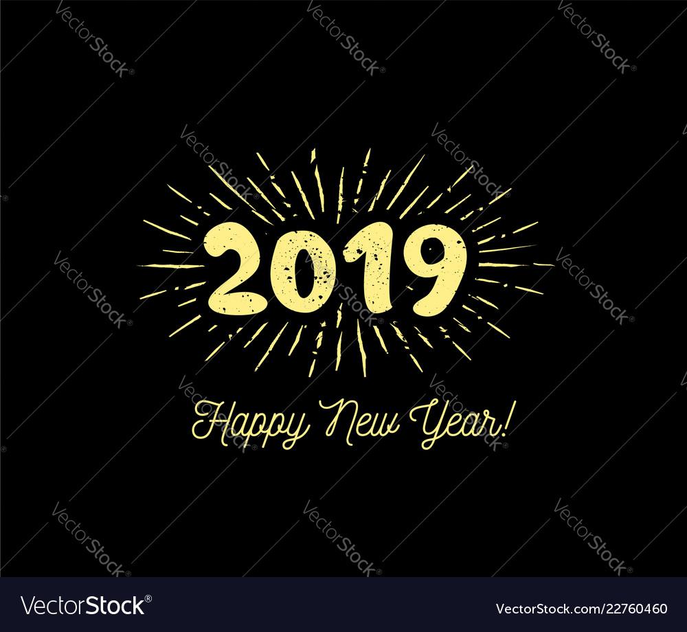 Sunbursts 2019 congratulation with happy new year