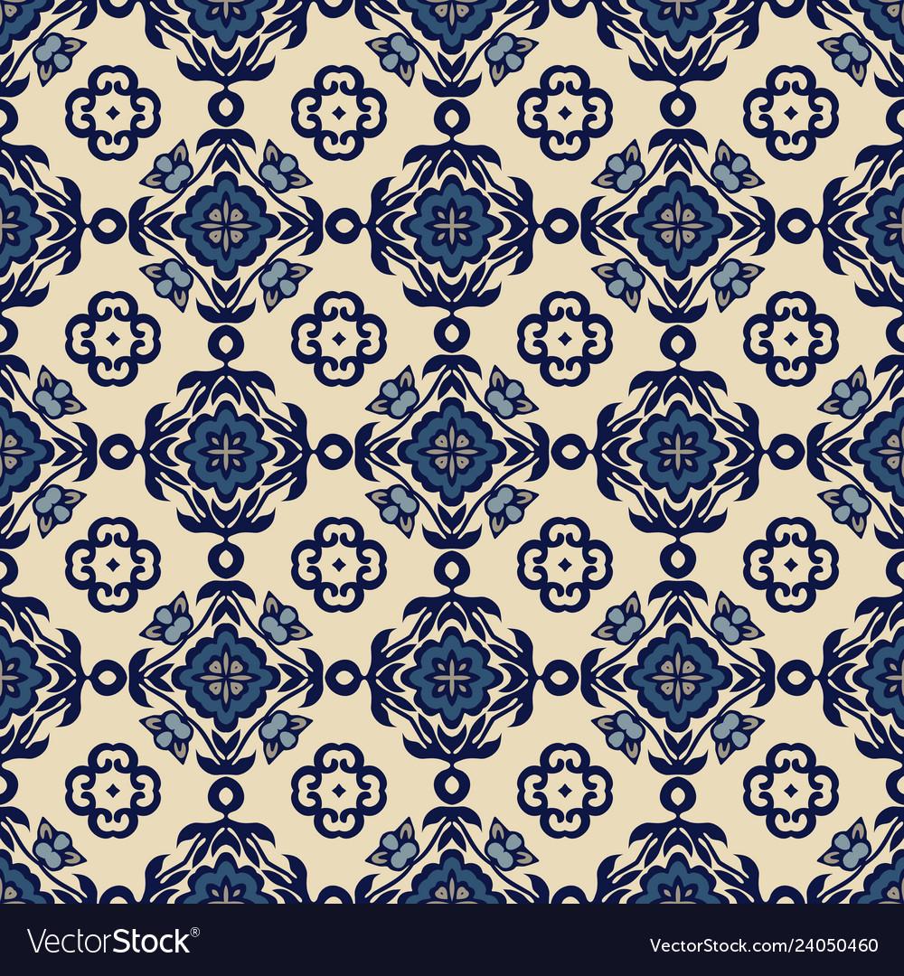 Traditional ornate decorative tiles azulejos