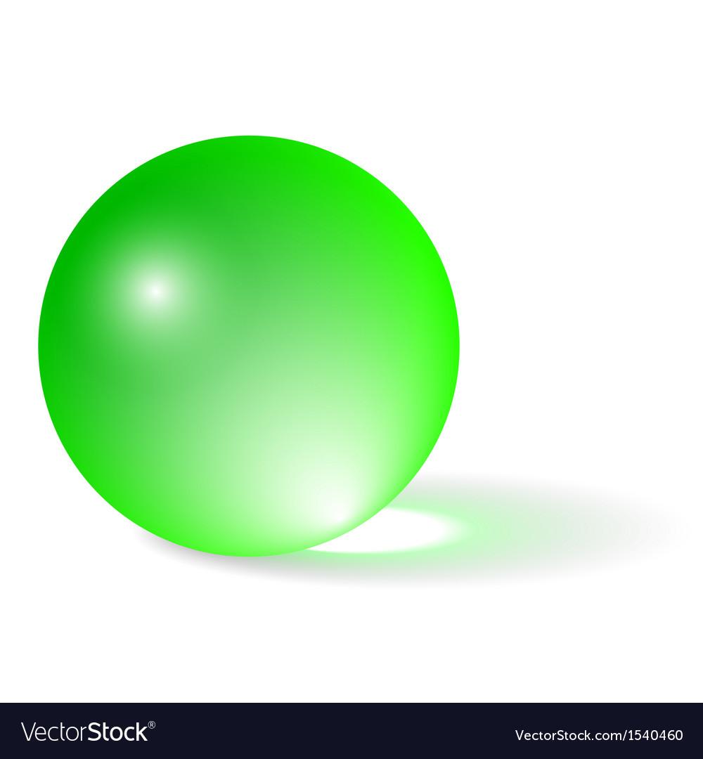 transparent green sphere royalty free vector image rh vectorstock com vector sphere rc drone parts vector sphere intersection