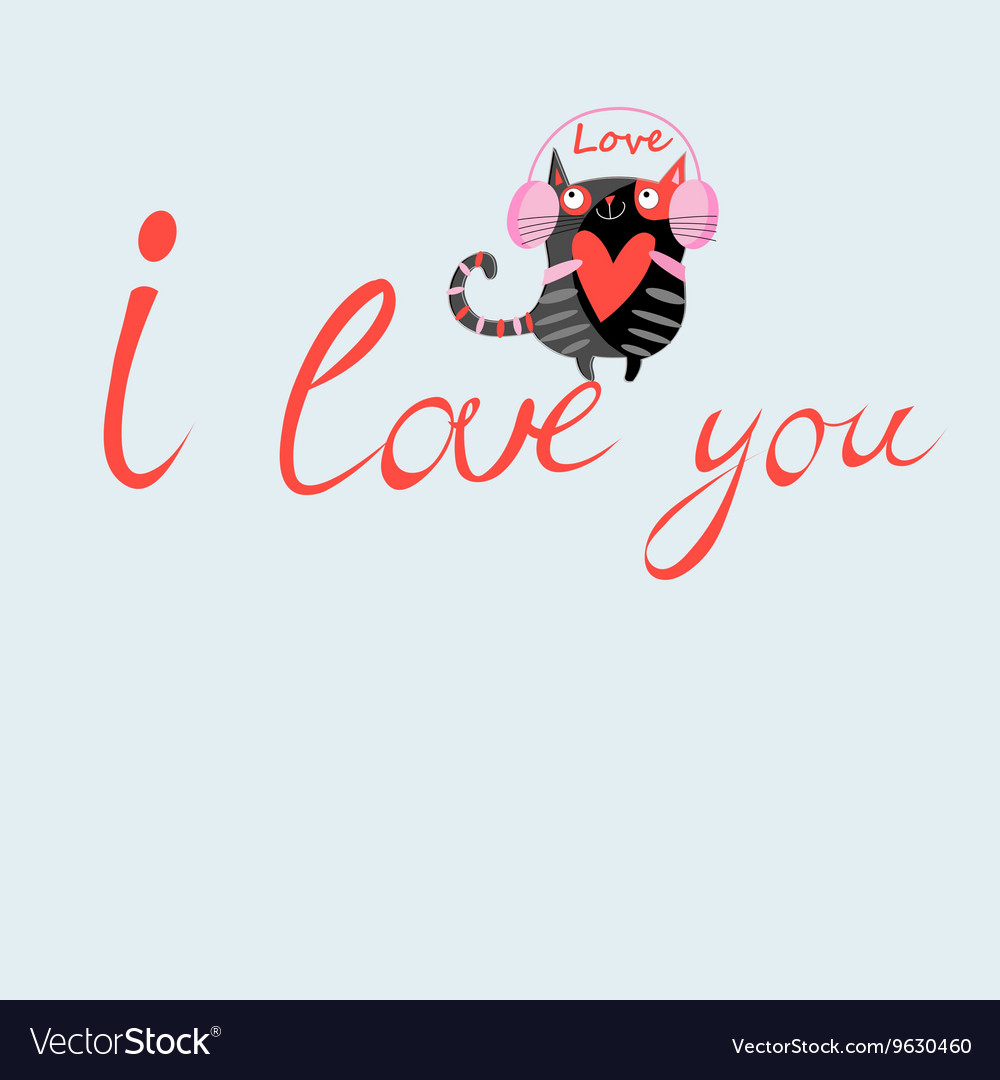 With love cat