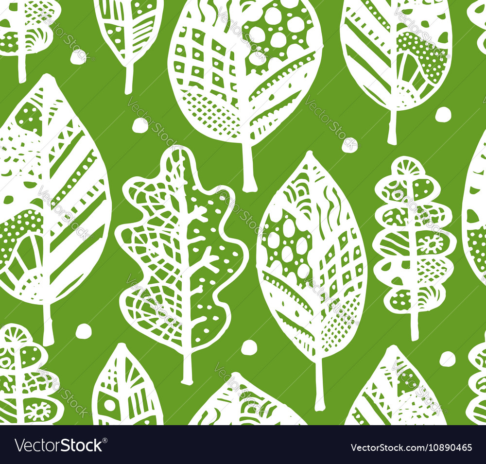 Autumn leaf seamless pattern for your design